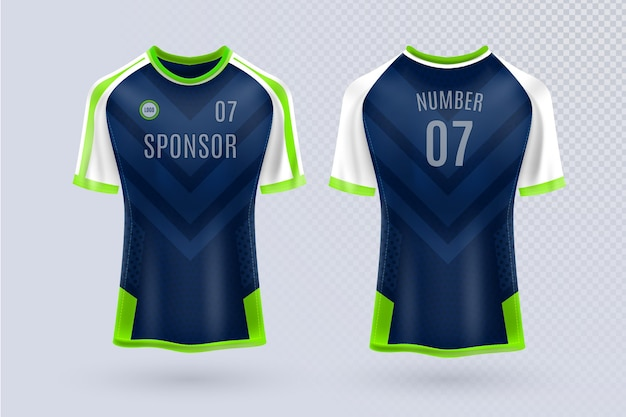 Soccer jersey front and back