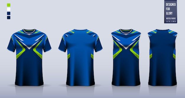 サッカージャージまたはサッカーキットのモックアップテンプレートデザインバスケットボールジャージランニングシャツ用タンクトップ