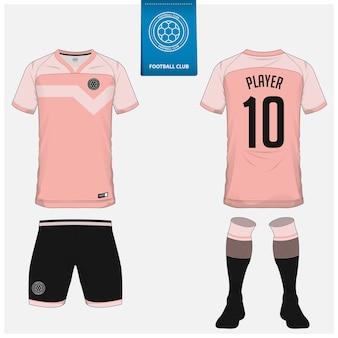 축구 유니폼 또는 축구 키트 템플릿 디자인