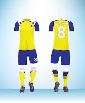 サッカージャージやサッカーtシャツのモックアップ。
