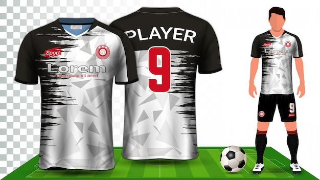 Soccer jersey, sport shirt or football kit uniform presentation