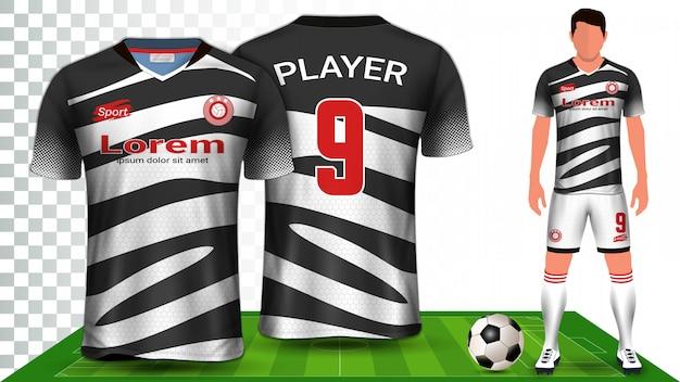 축구 유니폼, 스포츠 셔츠 또는 축구 키트 유니폼 프레젠테이션