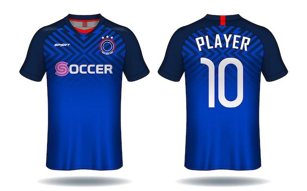 축구 유니폼 스포츠 티셔츠 디자인.