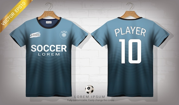 Soccer jersey and t-shirt sport mockup template