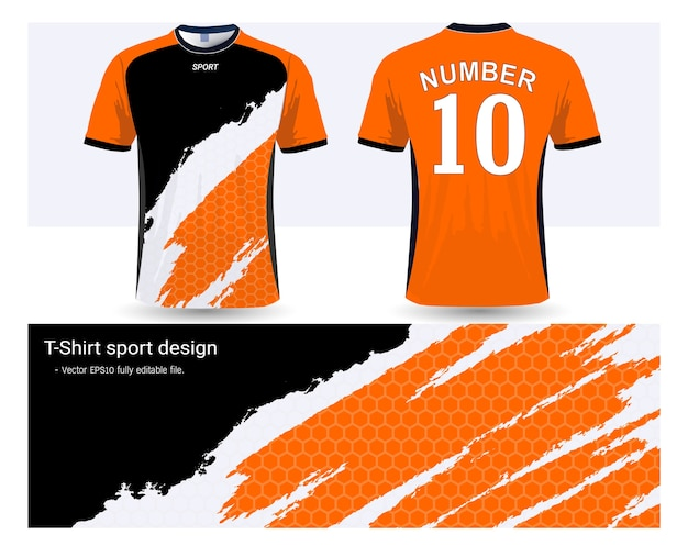 Soccer jersey template for football club uniforms