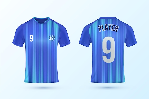 Soccer jersey template set