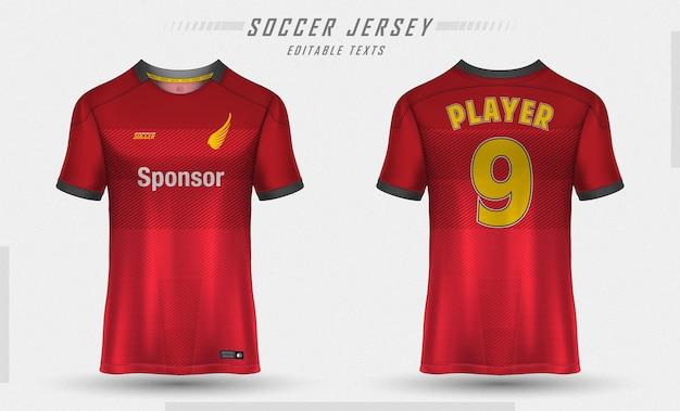 Soccer jersey template sport t-shirt design