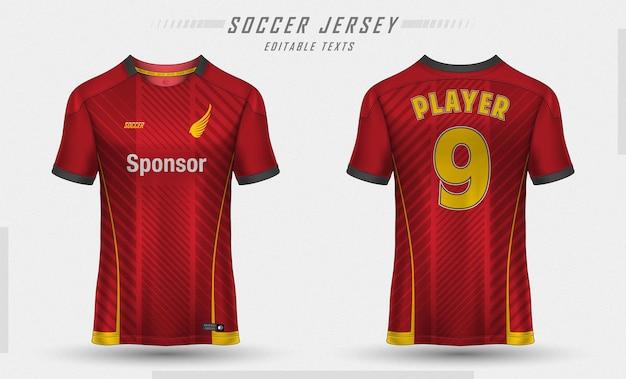 T-shirt sportiva da calcio modello jersey Vettore gratuito