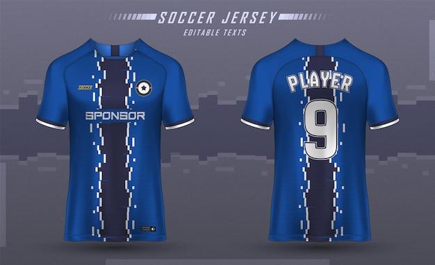 サッカー ジャージー テンプレート スポーツ t シャツ デザイン
