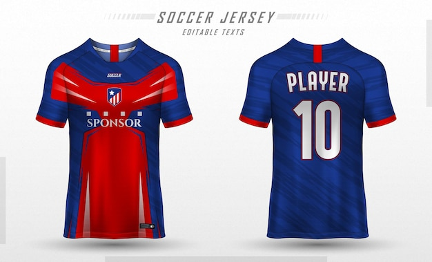 Modello di t-shirt sportiva modello di maglia da calcio