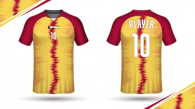 Soccer jersey template-sport t-shirt design