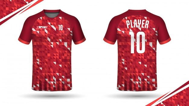 足球运动衫模板运动t恤设计