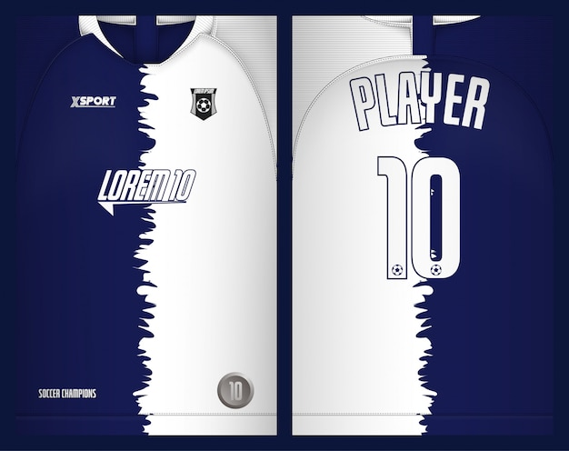 Soccer jersey template-sport t-shirt