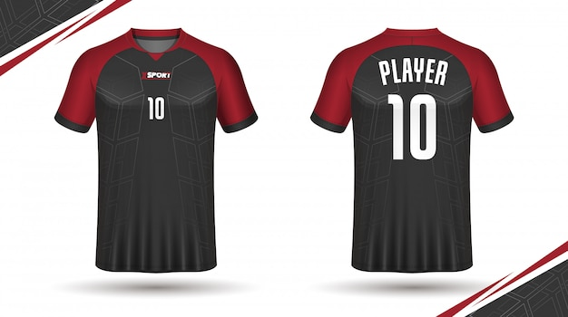 Soccer jersey template sport tshirt