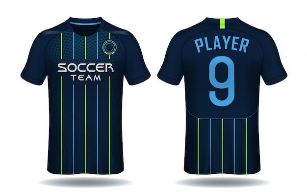 Soccer jersey template.