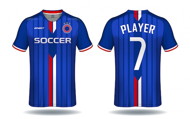 Soccer jersey template.