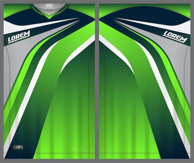 축구 유니폼 tshirt 스포츠 템플릿 유니폼 앞면과 뒷면