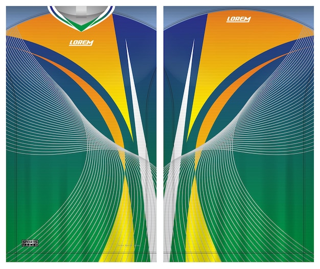 Soccer jersey tshirt sport template uniform front and back