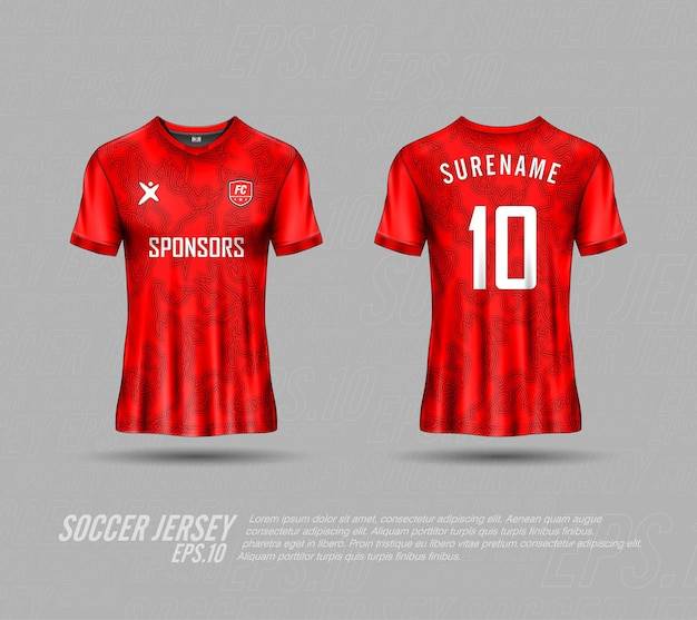 Soccer jerseys abstract background premium collection
