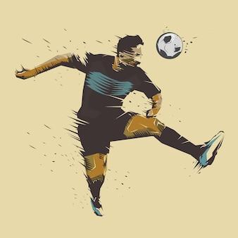 Soccer jumping ink splash