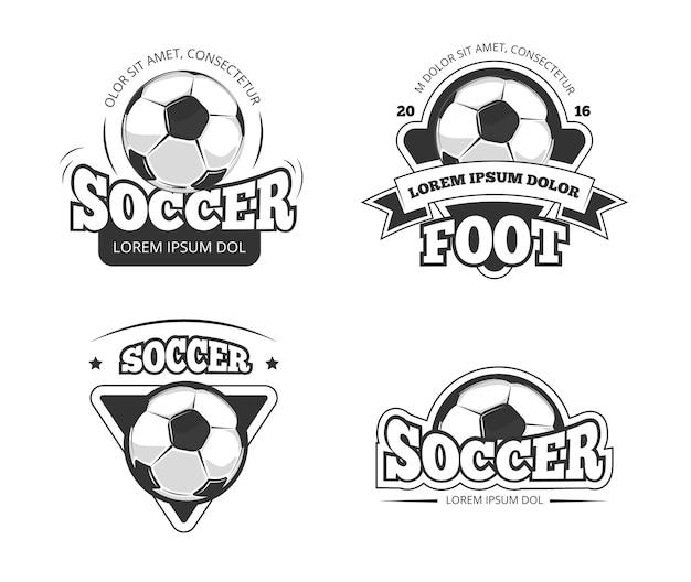 Soccer Club Vintage Monochrome Label