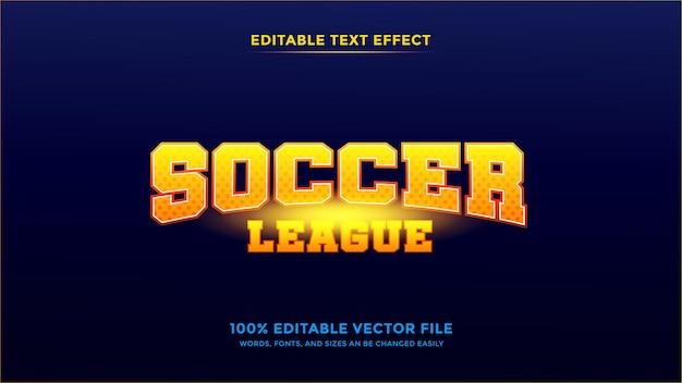 サッカーリーグの編集可能なテキスト効果