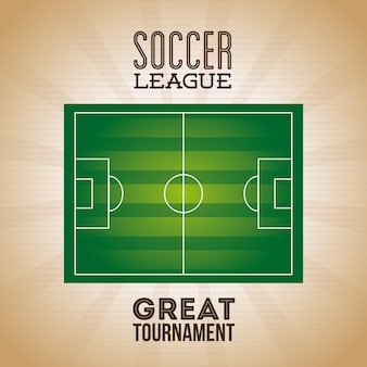 Soccer league poster
