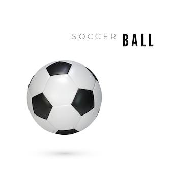Кожаный футбольный мяч с тенью