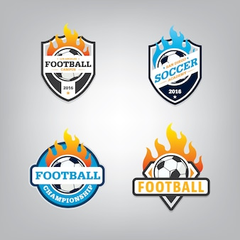 Soccer logo design set