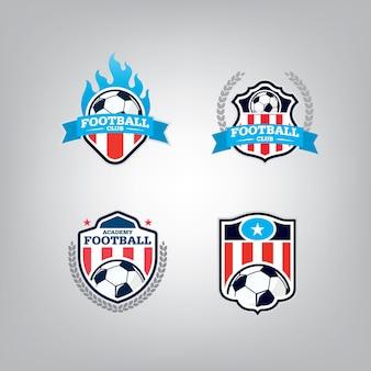 Soccer logo design template set.
