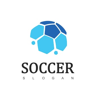 Soccer logo or football club sign