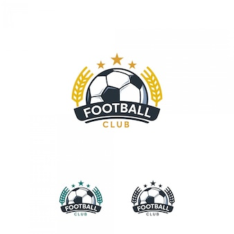 Soccer logo, football logo badge