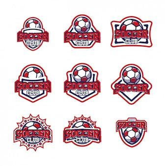 サッカーのロゴテンプレートのデザイン
