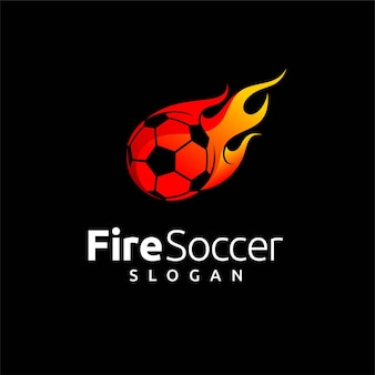 Soccer logo with fire element