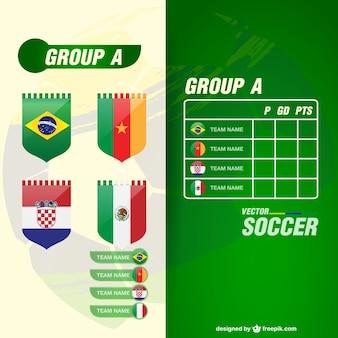 Кубок мира groupe команды вектор шаблон