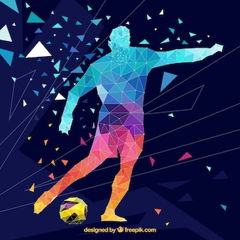 Soccer player background in abstract style