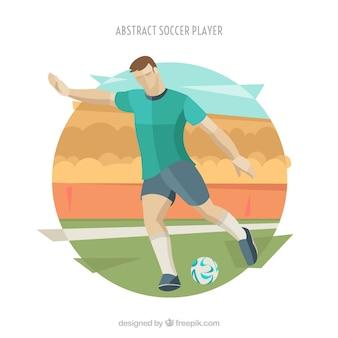 Sfondo di calciatore in stile astratto