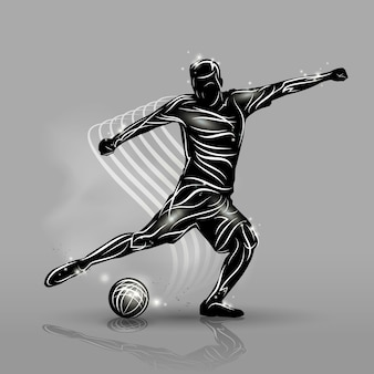 Soccer player black style