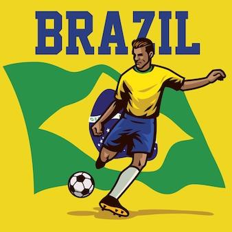 Soccer player of brazil