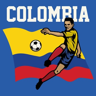 Soccer player of colombia