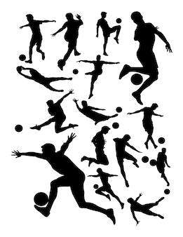 サッカー選手の詳細シルエット