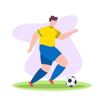 Футбол игрок мяч