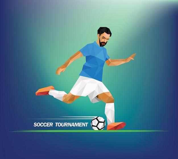 サッカー選手のイラスト。