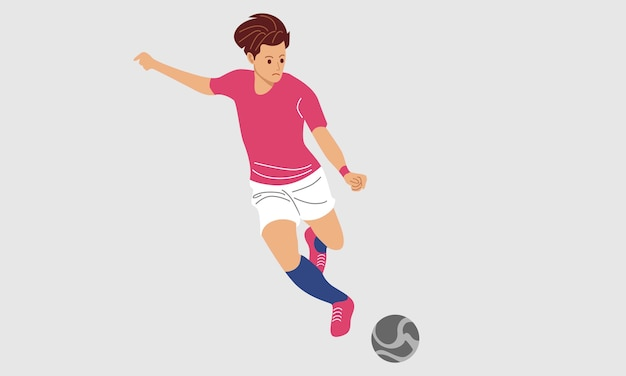 Иллюстрация футболиста