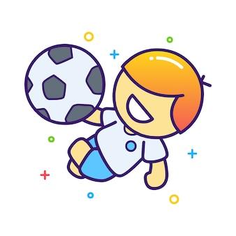 サッカー選手のイラスト