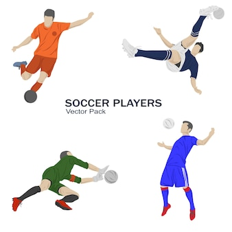 Soccer player in action collection