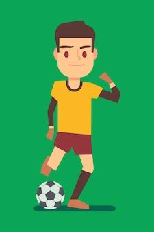 Футболист пьет мяч