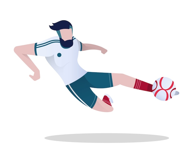 Soccer player playing football.