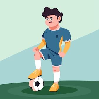 ボールとサッカー選手