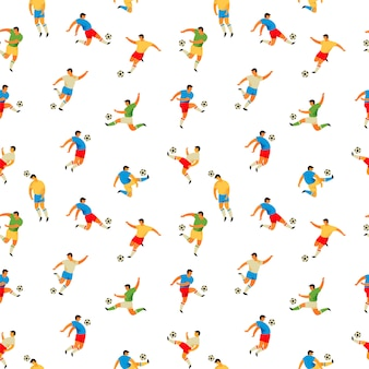 Soccer players. seamless pattern.